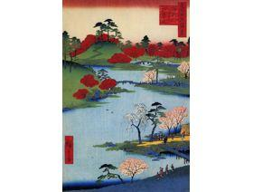 Open Garden and Fukagawa Hachiman Shrine - Wooden Jigsaw Puzzle