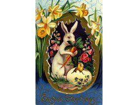 Easter Egg Rabbit - Wooden Jigsaw Puzzle