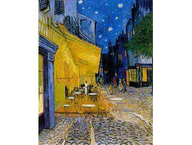 Cafe Terrace on the Place du Forum Small - Wooden Jigsaw Puzzle