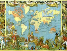 Map of the British Empire in 1886 - Wooden Jigsaw Puzzle