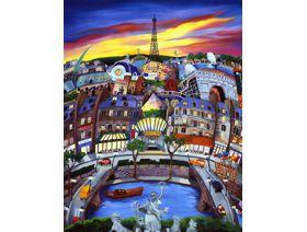 April in Paris - Wooden Jigsaw Puzzle
