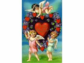 Valentine with Cherubs - Wooden Jigsaw Puzzle