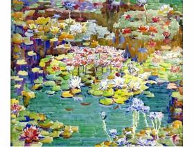 Water Lilies - Wooden Jigsaw Puzzle