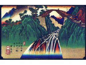 Distant View of the Bridge over the Ina River at Nojiri - Wooden Jigsaw Puzzle