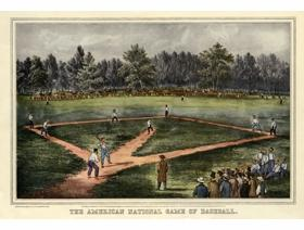 The American National Game of Baseball - Wooden Jigsaw Puzzle