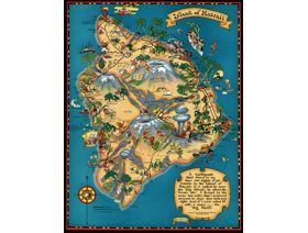Island of Hawaii - Wooden Jigsaw Puzzle