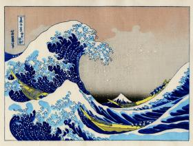 The Great Wave Large Piece - Wooden Jigsaw Puzzle