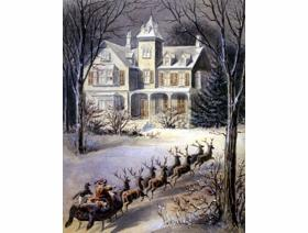 Snowy Sleigh Ride - Wooden Jigsaw Puzzle