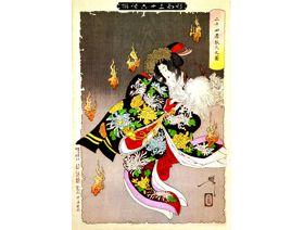 The Foxfires in Nijushiko - Wooden Jigsaw Puzzle