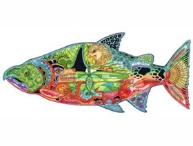 Chinook Salmon - Wooden Jigsaw Puzzle