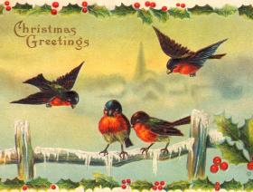 Christmas Robins - Wooden Jigsaw Puzzle