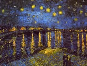 Starry Night Over the Rhone - Wooden Jigsaw Puzzle