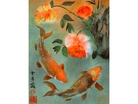 Two Koi - Wooden Jigsaw Puzzle