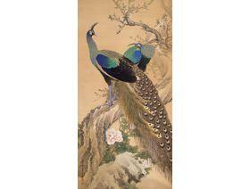 A Pair of Peacocks in the Spring - Wooden Jigsaw Puzzle