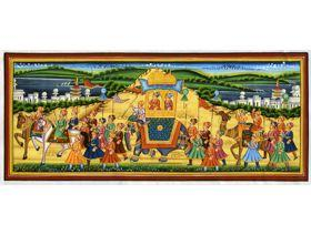 Procession of Akbar, King of the Mughals - Wooden Jigsaw Puzzle