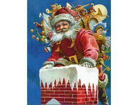 Chimney Santa - Wooden Jigsaw Puzzle