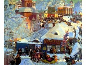 Winter, Carnival Fair, 1919 - Wooden Jigsaw Puzzle