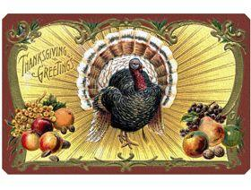 Thanksgiving Postcard - Wooden Jigsaw Puzzle