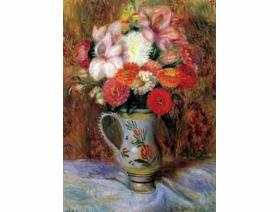 Flowers in a Quimper Pitcher - Wooden Jigsaw Puzzle