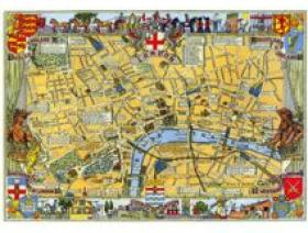 Map of London Large Piece - Wooden Jigsaw Puzzle