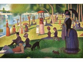 A Sunday on La Grand Jatte Large Piece - Wooden Jigsaw Puzzle