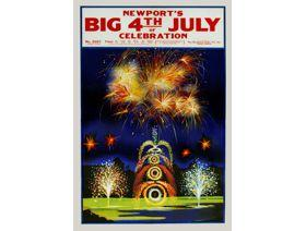 Newport's Big 4th of July Celebration - Wooden Jigsaw Puzzle