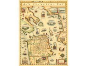 San Francisco Bay Map - Wooden Jigsaw Puzzle