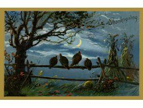 Thanksgiving Twilight - Wooden Jigsaw Puzzle