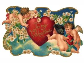 Cupid Garden Party - Wooden Jigsaw Puzzle