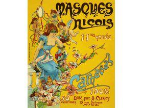 Masques Nicois Carnaval - Wooden Jigsaw Puzzle