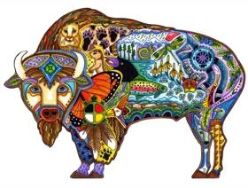 Bison - Wooden Jigsaw Puzzle
