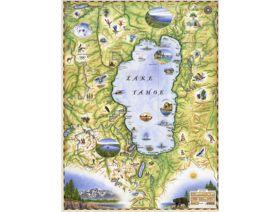 Lake Tahoe Map - Wooden Jigsaw Puzzle