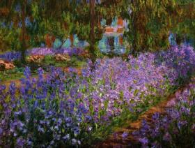 Artist's Garden at Giverny - Wooden Jigsaw Puzzle