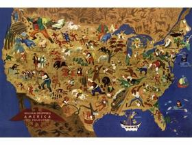 William Gropper's American Folklore - Wooden Jigsaw Puzzle