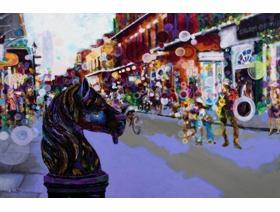 French Quarter Horse Post - Wooden Jigsaw Puzzle