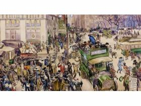 Christmas Shoppers, Madison Square - Wooden Jigsaw Puzzle