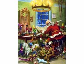 Santa's Workshop - Wooden Jigsaw Puzzle