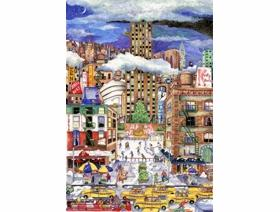 Light Snowfall in New York - Wooden Jigsaw Puzzle