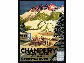 Champery, Valais-Suisse - Wooden Jigsaw Puzzle