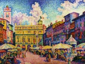 The Herb Market, Verona - Wooden Jigsaw Puzzle