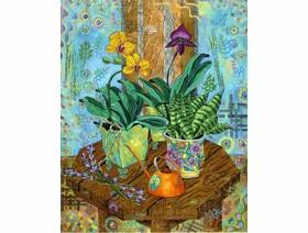 Orchids in East Window - Wooden Jigsaw Puzzle