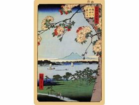 Suijin Shrine and Massaki on the Sumida River - Wooden Jigsaw Puzzle