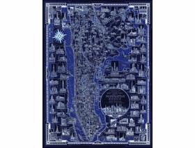 New York City Pictorial Map - Wooden Jigsaw Puzzle