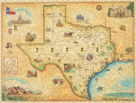Texas Map - Wooden Jigsaw Puzzle