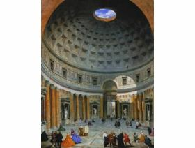Interior of the Pantheon, Rome - Wooden Jigsaw Puzzle