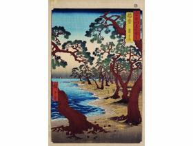 Maiko Beach in Harima Province - Wooden Jigsaw Puzzle
