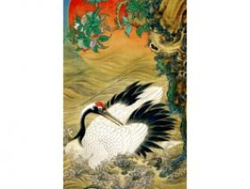 Crane and Rising Sun - Wooden Jigsaw Puzzle