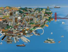 San Francisco - Wooden Jigsaw Puzzle