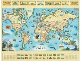 The World Map - Wooden Jigsaw Puzzle