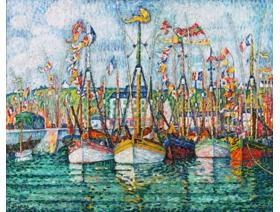 Blessing of the Tuna Fleet at Groix - Wooden Jigsaw Puzzle